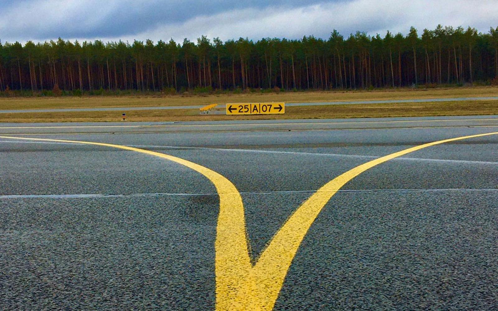 Eine Landebahn für Flugzeuge